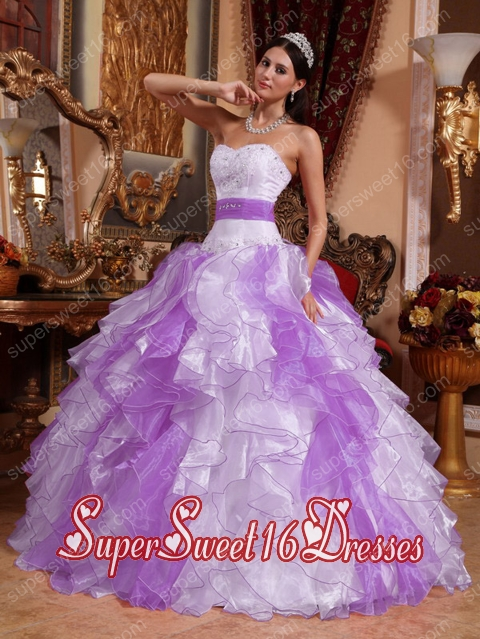 Multi-colored Ball Gown Popular Sweetheart Organza Beading and Ruching Sweet 16 Dresses