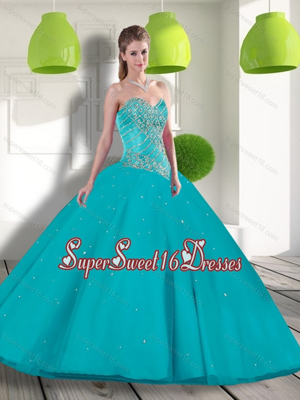 New Style Sweetheart 2015 Sweet 16 Dresses with Beading