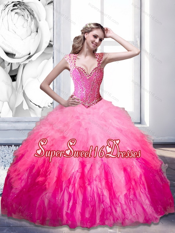 The Super Hot Beading and Ruffles 2015 Sweetheart 15th Birthday Party Dresses in Multi Color