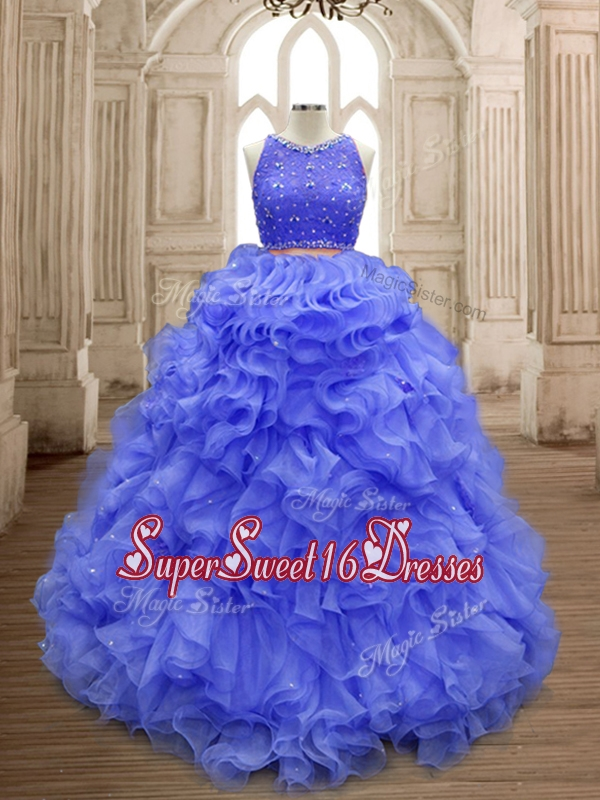 Latest Scoop Lavender Sweet 16 Gown with Beading and Ruffles