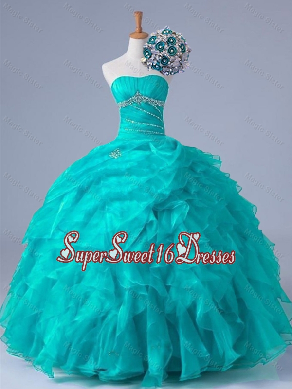 2015 Classical Beaded Quinceanera Dresses in Organza