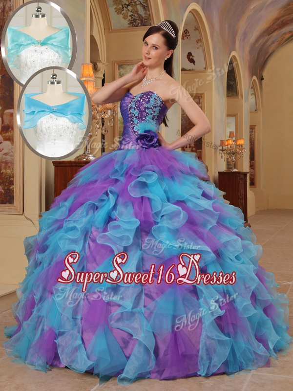 2016 Luxurious Ball Gown Sweetheart Quinceanera Dresses in Multi Color
