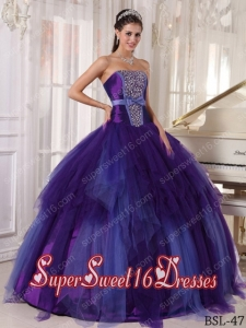 Elegent Ball Gown Tulle Beading 15th Birthday Party Dresses