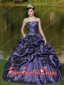 New Style In Custom Size Strapless For Sweet 16 Dresses Beaded Decorate With Blue