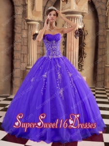 Popular Organza Ball Gown Beading Sweet 16 Dresses in Purple