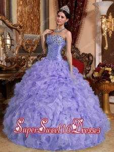 Pretty Quinceanera Dresses with Beading and Ruffles in Purple