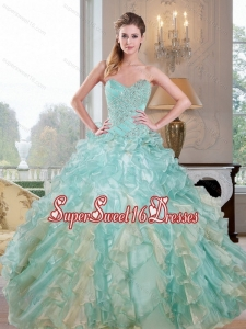 2015 New Arrival Sweetheart 15th Birthday Party Dresses with Beading and Ruffles
