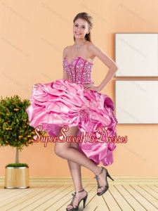 Pretty Sweetheart Beading and Pick Ups Dama Dresses for 2015 Spring