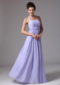 Custom Made Lilac Halter Ruched Bodice Sweet 16 Quinceanera Dama Dresses