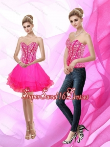 Exclusive Sweetheart A Line Beading 2015 Quinceanera Dama Dress