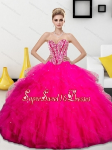 Wonderful Beading and Ruffles Sweetheart 15th Birthday Party Dresses