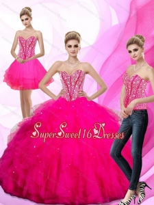 New Style 2015 Beading and Ruffles Sweetheart Sweet 16 Dresses