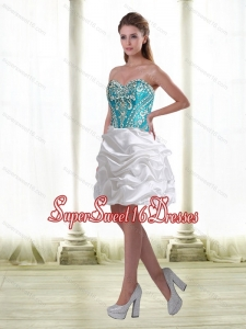 Luxurious Embroidery Quinceanera Dama Dresses in Multi Color for 2015