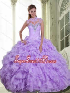 Romantic Beading and Ruffles Sweetheart 15th Birthday Party Dresses for 2015