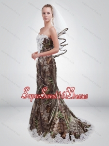 2015 Sturning Mermaid Sweetheart Camo Quinceanera Dama Dresses in Multi Color