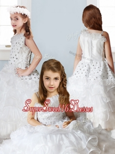 Fashionable Asymmetrical Neckline Mini Quinceanera Dresses with Beading and Ruffles