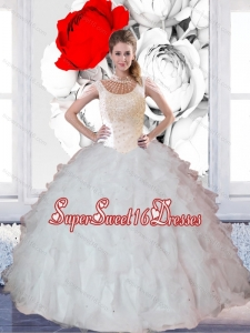 New Style Ball Gown Ruffles and Beaded Quinceanera Dresses for 2015 for Summer