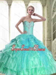 Perfect Lace Up Sweetheart Quinceanera Dresses with Beading for Fall