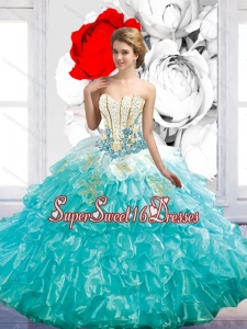 Exquisite Floor Length Sweet 16 Ball Gowns with Beading and Ruffles for Fall