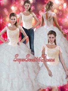 Sophisticated Ruffles and Beaded Sweet Fifteen Dresses for 2015 for Fall