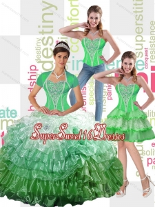 Wonderful 2015 Sweet 16 Ball Gowns Quinceanera Dress with Ruffled Layers for Fall