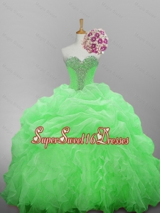 Affordable Beaded Quinceanera Dresses in Organza for 2015