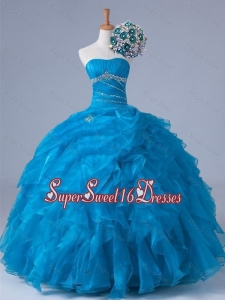 Beading and Ruffles Strapless Quinceanera Dresses for 2015
