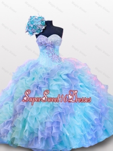 Beading and Sequins Sweetheart Quinceanera Dresses for 2015