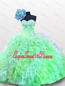 Luxurious Sweetheart Quinceanera Dresses with Appliques and Sequins for 2015