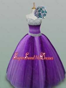 Popular Beaded Quinceanera Dresses in Spaghetti Straps for 2015