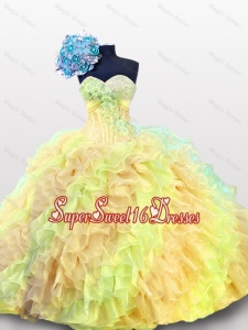 Puffy Multi Color Beading Quinceanera Dresses with Sweetheart