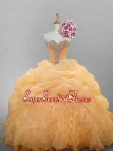 2015 Luxurious Sweetheart Quinceanera Dresses with Ruffled Layers
