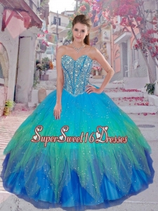 Discount Beaded Ball Gown Quinceanera Dresses for 2016 Winter