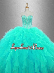 Ball Gown Elegant Sweet 16 Dresses with Beading and Ruffles