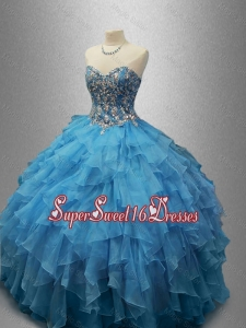 Perfect Sweetheart Quinceanera Dresses with Beading and Ruffles
