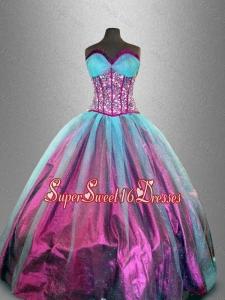 Artistic Sweetheart Beaded Sweet 16 Dresses in Tulle for 2016