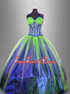 Popular Ball Gown Sweet 16 Gowns with Beading and Ruffles