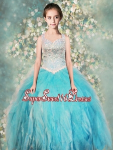 Perfect Straps Ball Gown Mini Quinceanera Dresses with Beading
