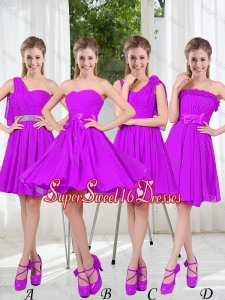 Pretty Sweetheart Beading Short Dama Dresses in Purple