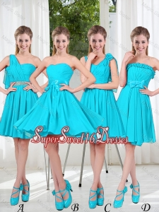 Informal Quinceanera Dama Dress with Ruching for 2016