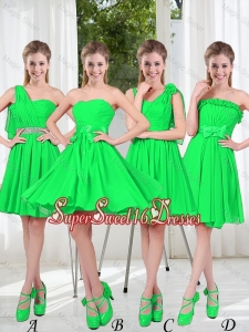 Perfect A Line Short Quinceanera Dama Dress with Ruching