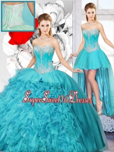 Best Selling Sweetheart Detachable Quinceanera Gowns with Beading for Spring