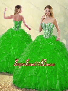 Detachable 2016 Beading Quinceanera Dresses with Sweetheart