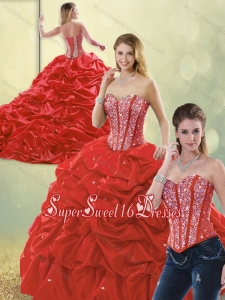 Perfect Sweetheart Detachable Quinceanera Dresses with Beading and Pick Ups