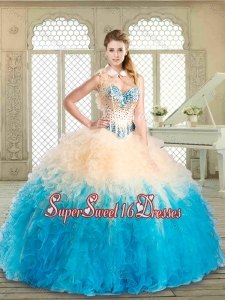 Lovely Floor Length Quinceanera Dresses with Beading and Ruffles
