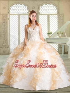 Lovely Sweetheart Quinceanera Dresses with Paillette and Ruffles