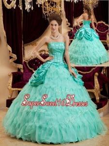 Best Selling Ball Gown Floor Length Ruffles Quinceanera Dresses for 2016