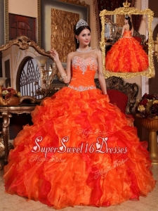 Gorgeous Ball Gown Appliques and Beading Quinceanera Dresses
