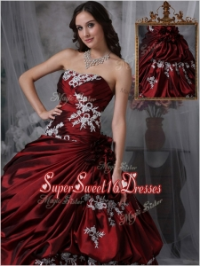 New Style Ball Gown Strapless Quinceanera Gowns with Appliques