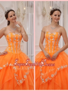 New Ball Gown Appliques and Beading Sweet 16 Dresses for 2016